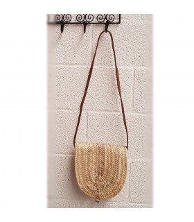 Palmito and Leather Bag - 100% Natural - Model PALMITO