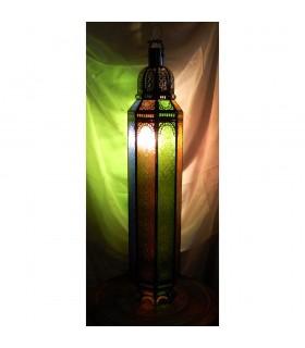 Lámpara Mesa Columna Cristal Transparente - Arabe - Andalusí