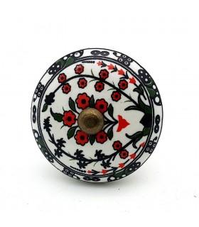 Pomo o Tirador para Muebles - Ceramica Esmaltada - Modelo 1