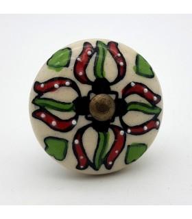 Pomo o Tirador para Muebles - Ceramica Esmaltada - Modelo 3