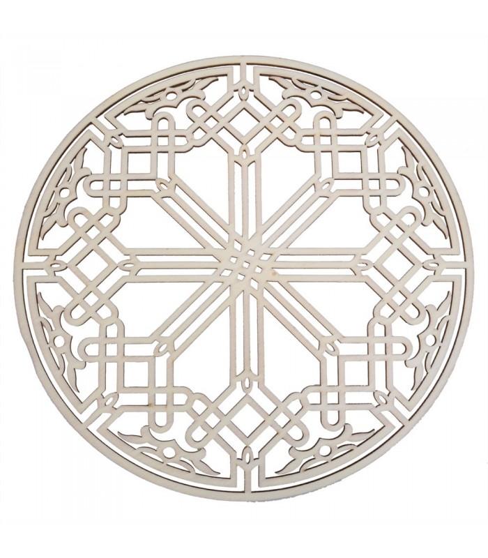 Celosia Decoracion Arabe - Madera Laminada Corte por Laser - Modelo 15 - 25 cm