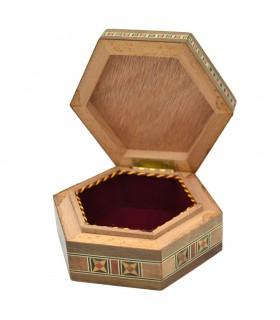 Arab Box Taracea Siria Hexagonal - Star Cap 12 Tips - 11 cm