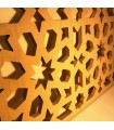 Celosía Árabe Pared o Falso Techo - Madera Laminada - Diseño Geométrico