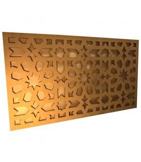 Celosia Árabe Pared o Falso Techo - Madera Laminada - Diseño Geometrico