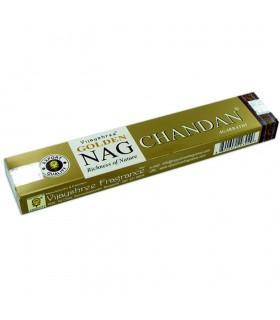 Incienso Nag Chandan Masala -  Varillas - Serie Golden - 15 gr