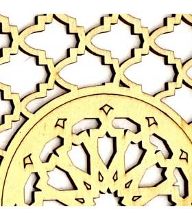Celosía Decoración Árabe - Madera Laminada Corte por Laser - Modelo 16