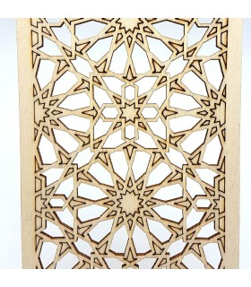 Celosía Decoración Árabe - Madera Laminada Corte por Láser - Modelo 17