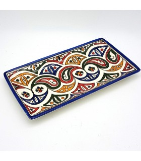 Dish or tray Rectangular Hand-painted ceramic - SERIE FESI