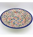 Large plate or hand-painted ceramic bowl from FESI Series