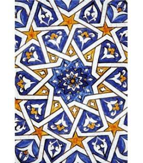 Postal mosaic Arabic - Souvenir Granada - model 6