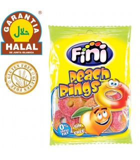 Peach Rings - Gluten Free and Halal Golosia - Bag of Chucherias 100 gr