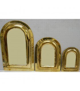 Set 3 Mirror Brass Arc