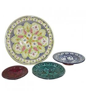 Piatto di ceramica SAFI - diversi Colores-Pintada mano - 5 taglie