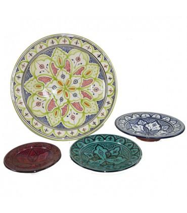 Plato cer mica safi varios colores pintada a mano 5 tama os online - Platos ceramica colores ...