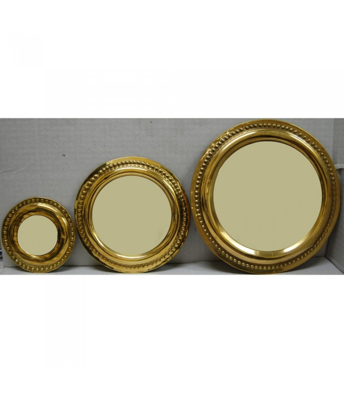 Set 3 Mirror Brass Circle