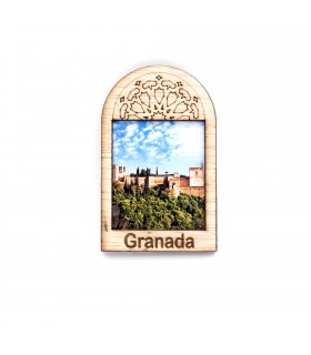 Arab Window Fridge Magnet - Design Alhambra - Souvenir