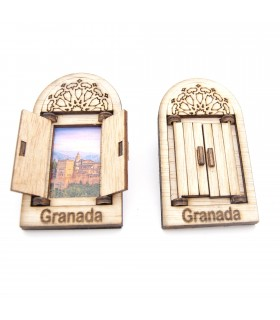 Fenêtre arabe avec porte Magnet Fridge - Design Alhambra - Souvenir
