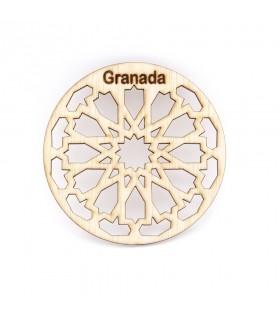 Pack 6 Souvenir Granada Coasters - Grenadian latticework