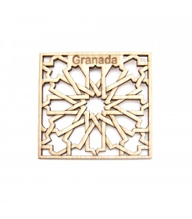 Pack 6 Souvenir Granada Coasters - Alhambra Latticework