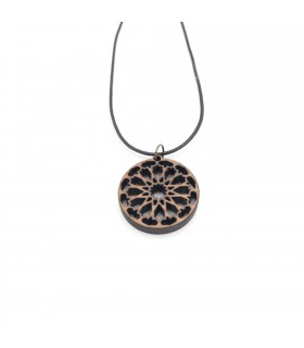 Oriental Olive Wood Pendant - Modern