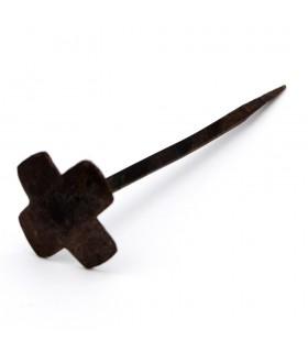 Clavo Forja Artesanal - Diseño Cruz - 4 x 14 cm