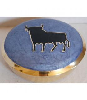 Caixa espanhola Bull - bronze - lembro-Espanha