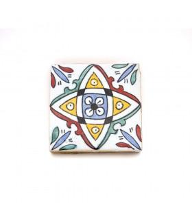 Azulejo Andalusí - 10 cm - Fait à la main - Modèle 65