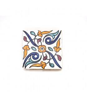 Azulejo Andalusí - 10 cm - Fait à la main - Modèle 66