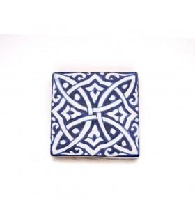 Azulejo andaluz - 10 cm - Feito à mão - Modelo 67