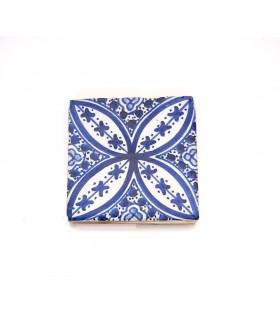 Azulejo andaluz - 10 cm - artesanal - modelo 68
