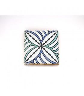 Azulejo andaluz - 10 cm - Feito à mão - Modelo 69