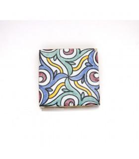 Azulejo andaluz - 10 cm - Feito à mão - Modelo 70