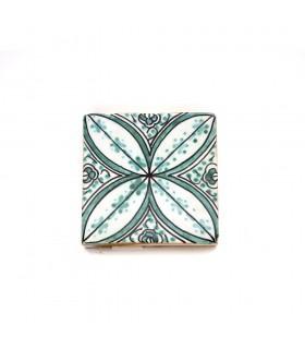 Azulejo andaluz - 10 cm - Feito à mão - Modelo 71