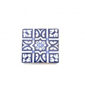 Azulejo andaluz - 10 cm - Feito à mão - Modelo 73