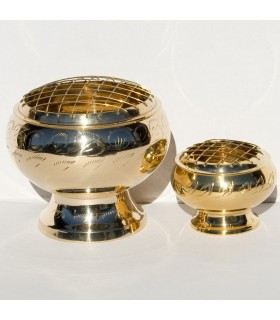 High - rack - 3 sizes engraved bronze censer