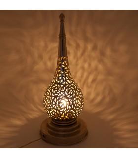 Lampe de table ajourée en alpaga - Modèle Kamuzra - 30 cm