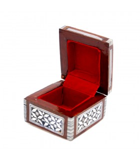 Box for ring - marquetry of Egypt - shell--NOVELTY