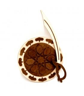 Conjunto Escudo y Espada Morisca - Madera