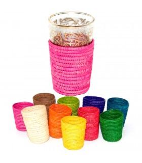 Bolsa de chá artesanal de vidro - Ráfia - Colos Vários - Modelo