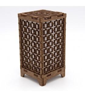 Oriental Mini Lantern - Wood - Led