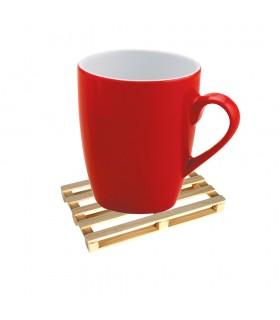 Petite palette européenne en bois Coaster - 8 x 6 cm