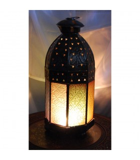 Lantern octagonal candle - glass colors