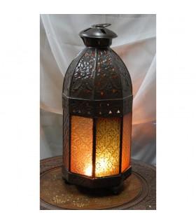 Achteckige Laterne Kerze - Glas-Farben