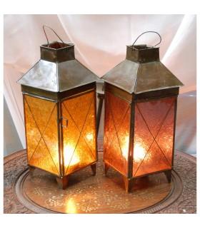 Bougie lanterne maison Chine - 2 couleurs