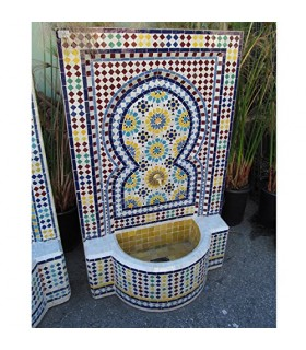 Mosaic Fountain 120 cm - Installation - Tile Colors