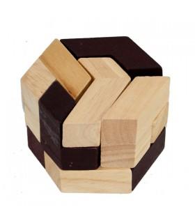 Puzzle game Hexagon colors - wit - puzzle - 7 x 7 cm
