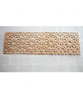 Cabeceira Alhambra Wood Lattice - 198 x 59 cm