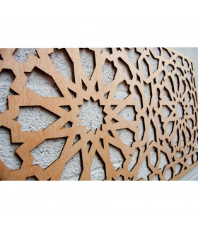Treillis en bois - Design Alhambra - 99 x 59 cm
