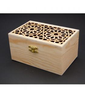 Caja de Madera con Calado Celosía Andalusí - Modelo Albaicín