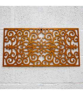 Treillis en bois - bordure florale - 60 x 30 cm